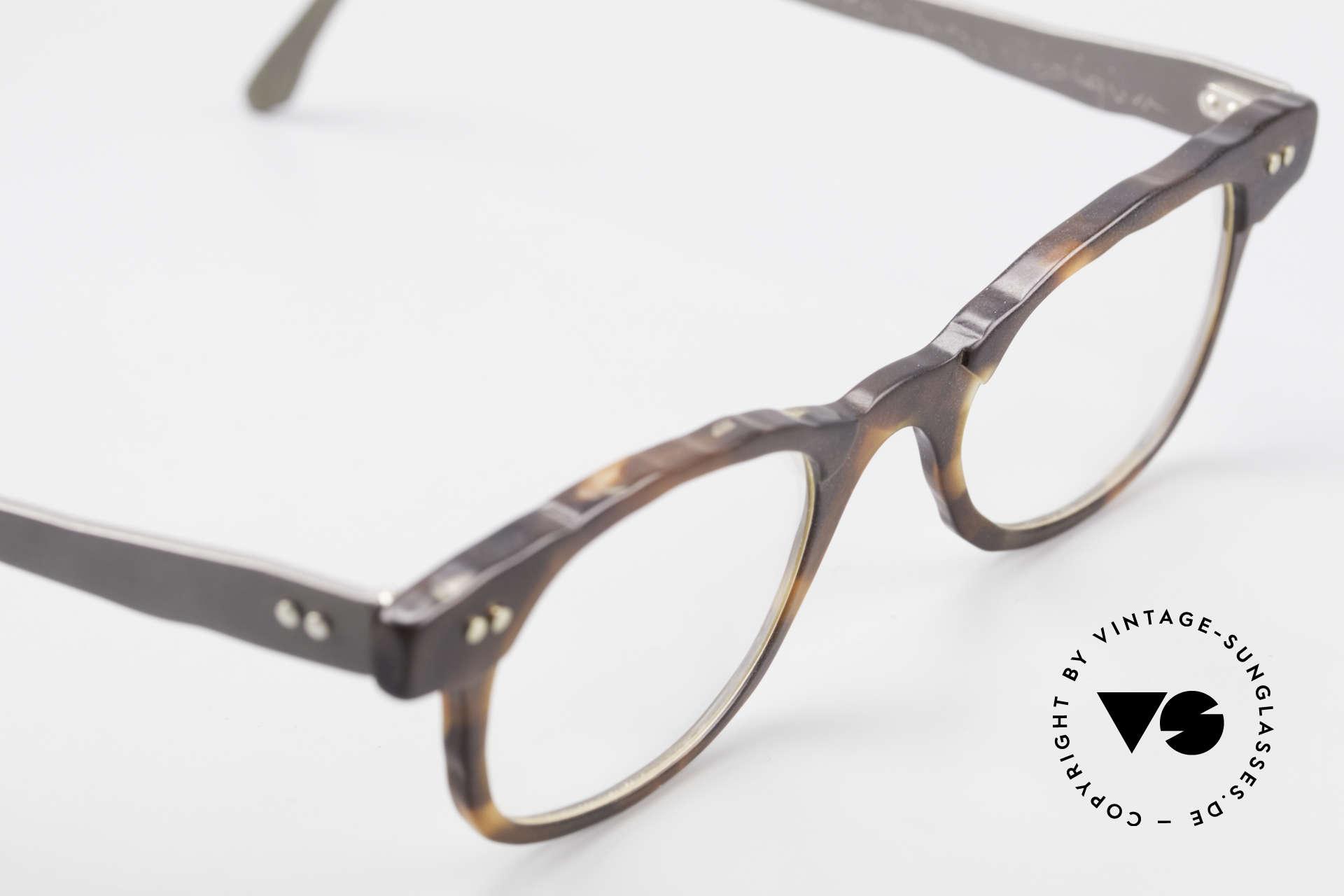 Theo Belgium Eye-Witness Avantgarde Titan Brille 90er, ungetragenes Theo-Einzelstück für die, die sich trauen ;), Passend für Herren und Damen