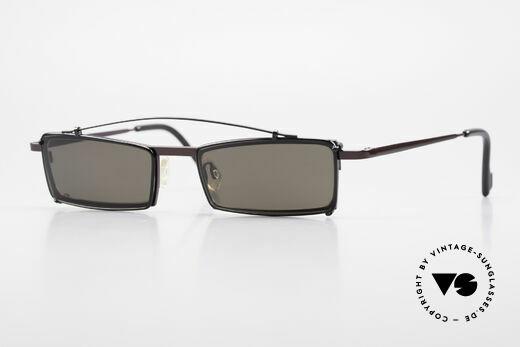 Theo Belgium XXM Clip On Designerbrille Eckig Details