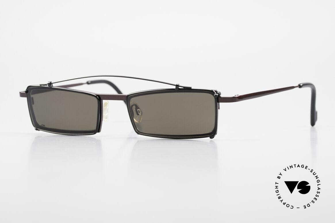 Theo Belgium XXM Clip On Designerbrille Eckig, Theo Belgium: die eigenwilligste Brillenmarke, weltweit, Passend für Herren und Damen
