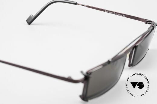Theo Belgium XXM Clip On Designerbrille Eckig, sozusagen: VINTAGE Sonnenbrille mit Symbol-Charakter, Passend für Herren und Damen