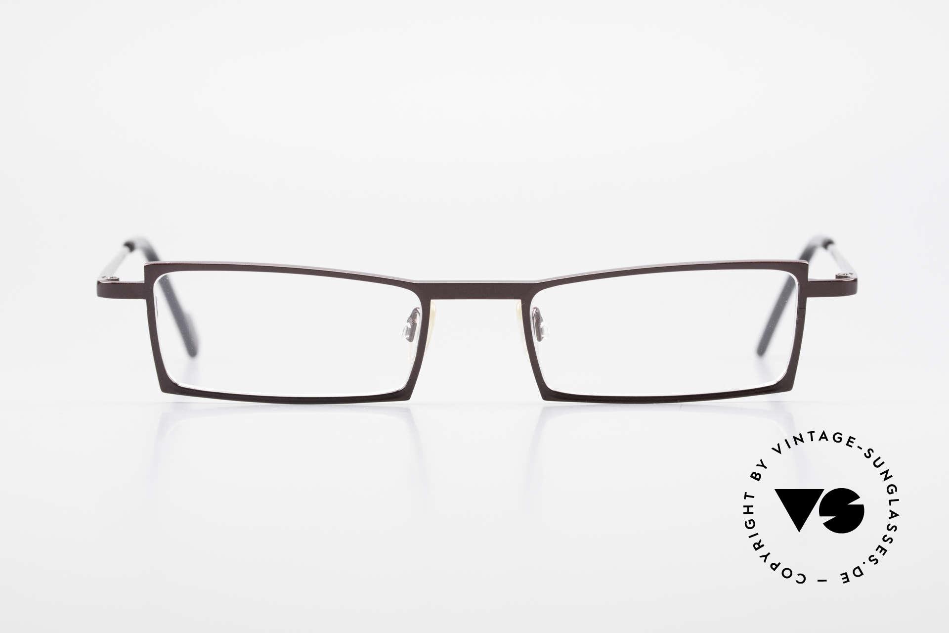 Theo Belgium XXM Clip On Designerbrille Eckig, Größe: large, Passend für Herren und Damen