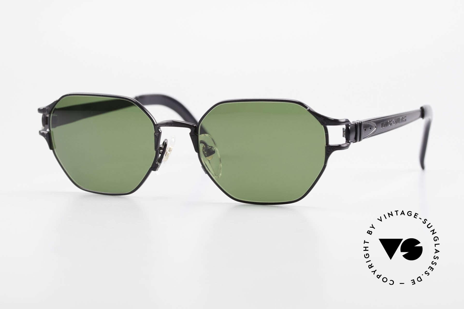Jean Paul Gaultier 58-4173 Eckige JPG 90er Designerbrille, vintage Designersonnenbrille von J.P.Gaultier, Passend für Herren und Damen