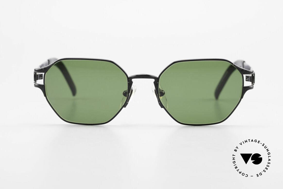 Jean Paul Gaultier 58-4173 Eckige JPG 90er Designerbrille, mit vielen kleinen (subtil) versteckten Details, Passend für Herren und Damen