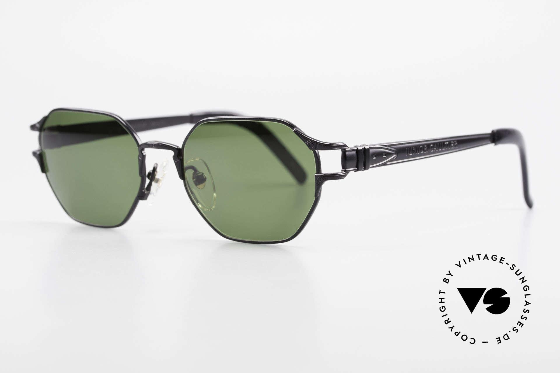 Jean Paul Gaultier 58-4173 Eckige JPG 90er Designerbrille, Top-Verarbeitung (made in Japan, um ca. 1995), Passend für Herren und Damen