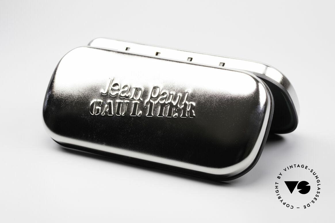 Jean Paul Gaultier 58-4173 Eckige JPG 90er Designerbrille, Größe: medium, Passend für Herren und Damen