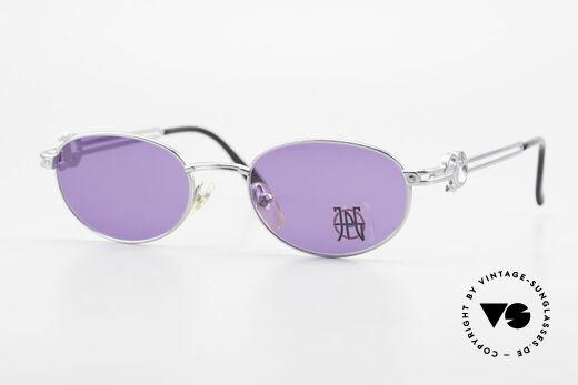 Jean Paul Gaultier 57-5101 Ovale JPG Vintage Sonnenbrille Details