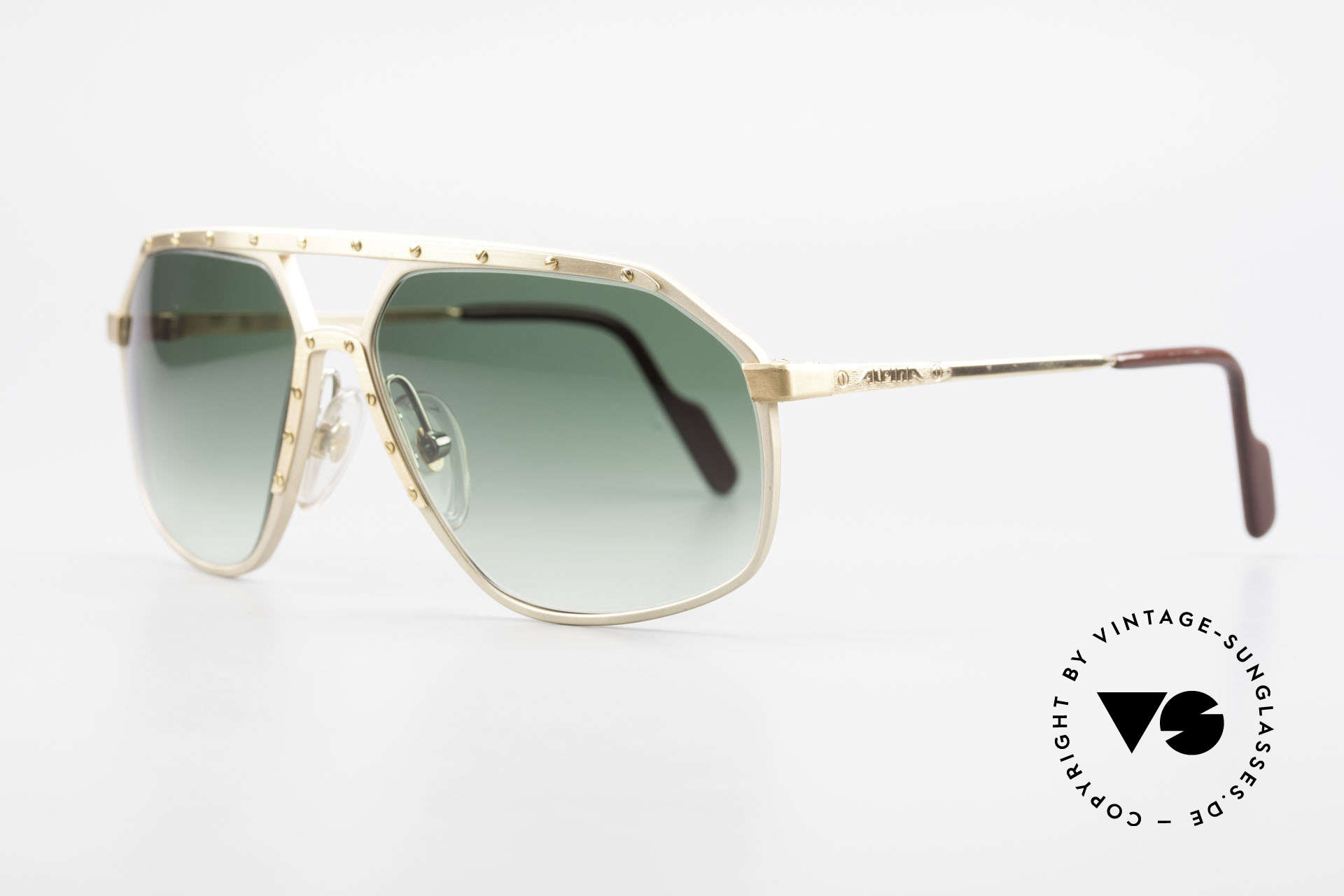 Alpina M6 Legendäre 80er Sonnenbrille, weltberühmt für sein Schrauben-Design; Gr. 60-14, Passend für Herren