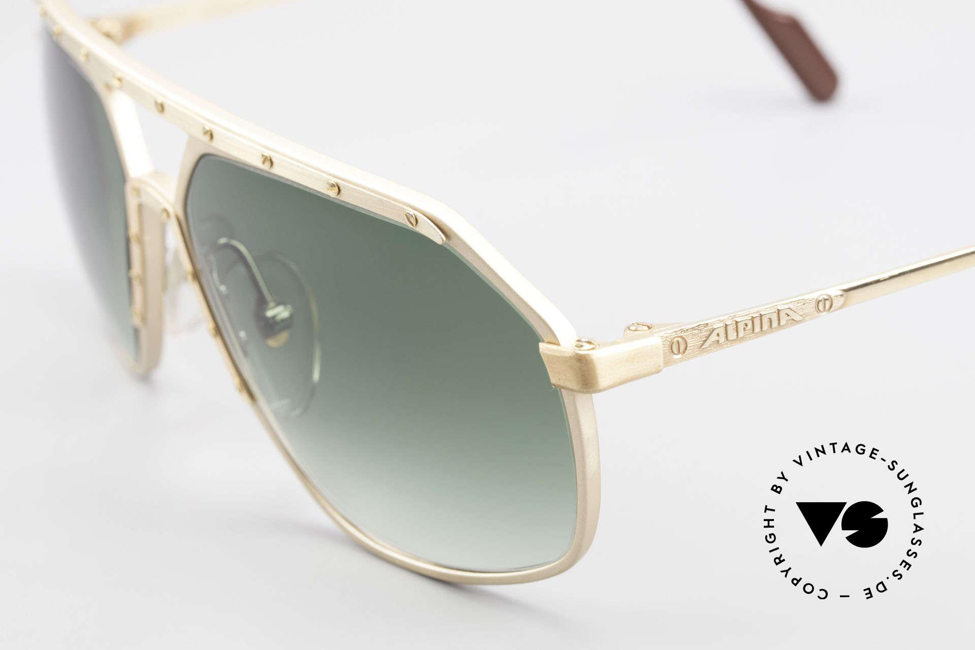 Alpina M6 Legendäre 80er Sonnenbrille, handgefertigt; entsprechend kostbar und hochwertig, Passend für Herren