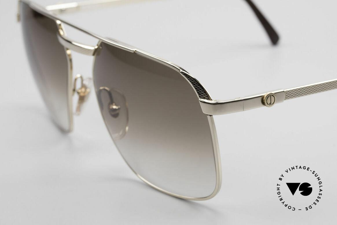 Dunhill 6011 Vergoldete 80er Herrenbrille, Barley-Verfahren: winzige Facetten für sanften Glanz, Passend für Herren