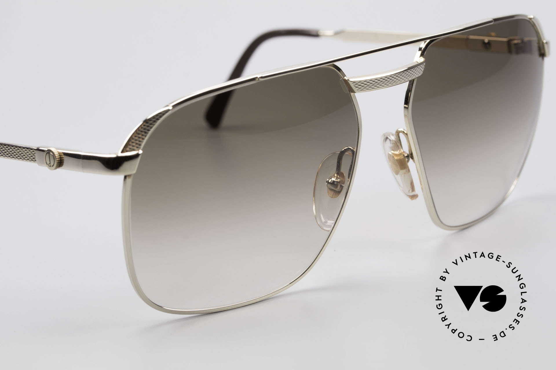 Dunhill 6011 Vergoldete 80er Herrenbrille, ungetragen (wie alle unsere vintage Dunhill Brillen), Passend für Herren