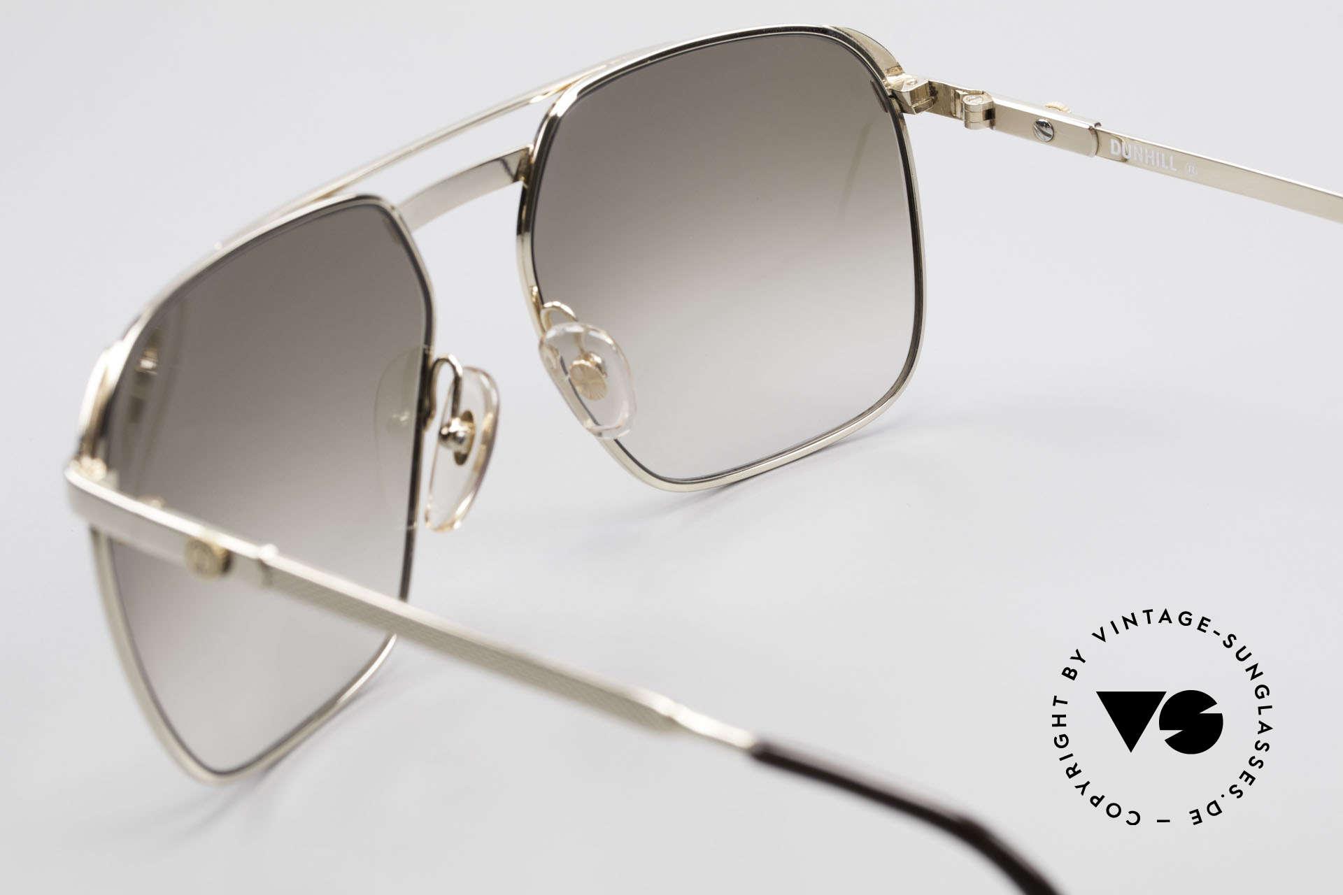 Dunhill 6011 Vergoldete 80er Herrenbrille, KEIN RETRO, sondern ein kostbares altes ORIGINAL, Passend für Herren