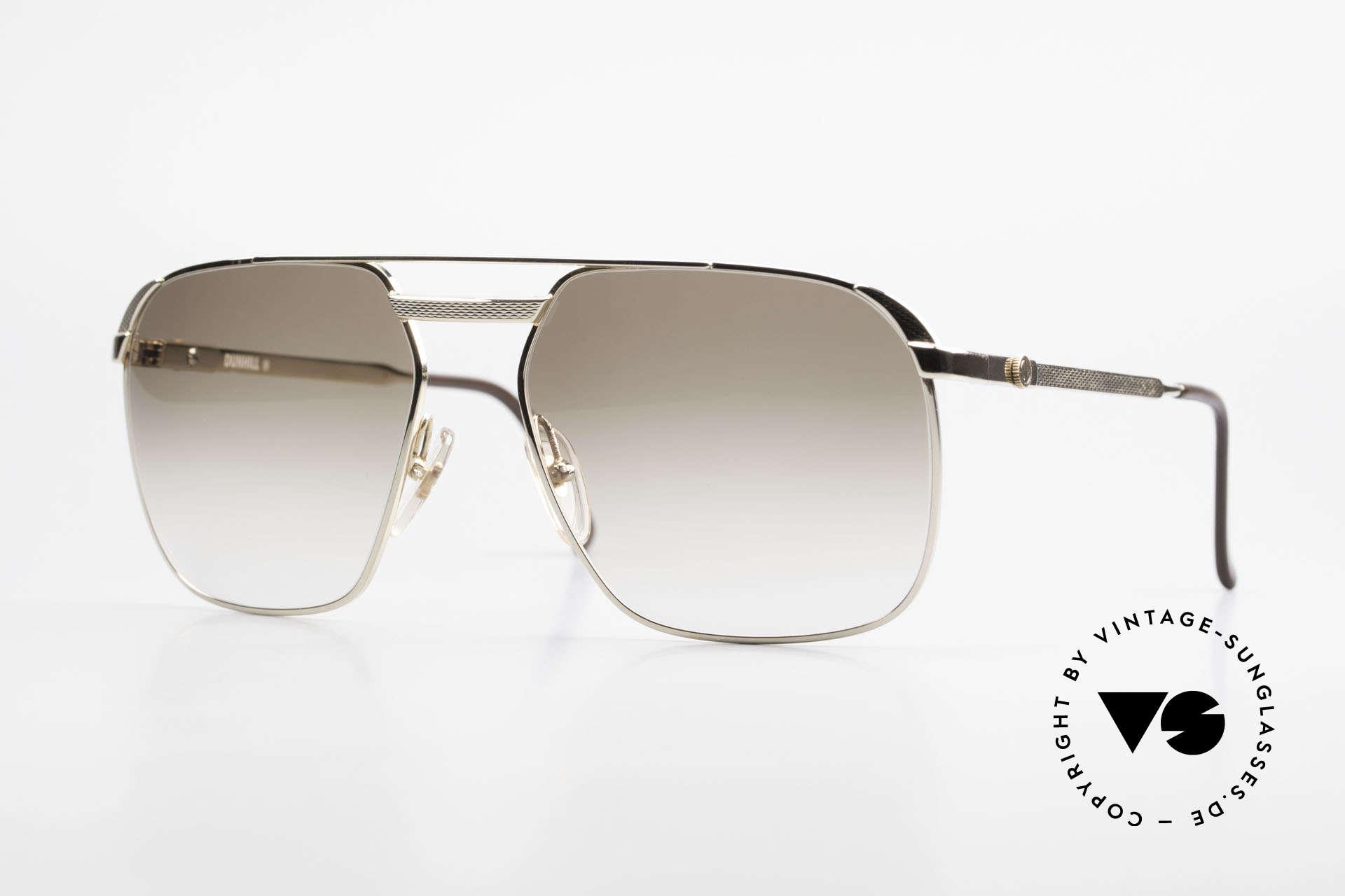Dunhill 6011 Vergoldete 80er Herrenbrille, Meisterwerk in Sachen Stil, Funktionalität & Qualität, Passend für Herren