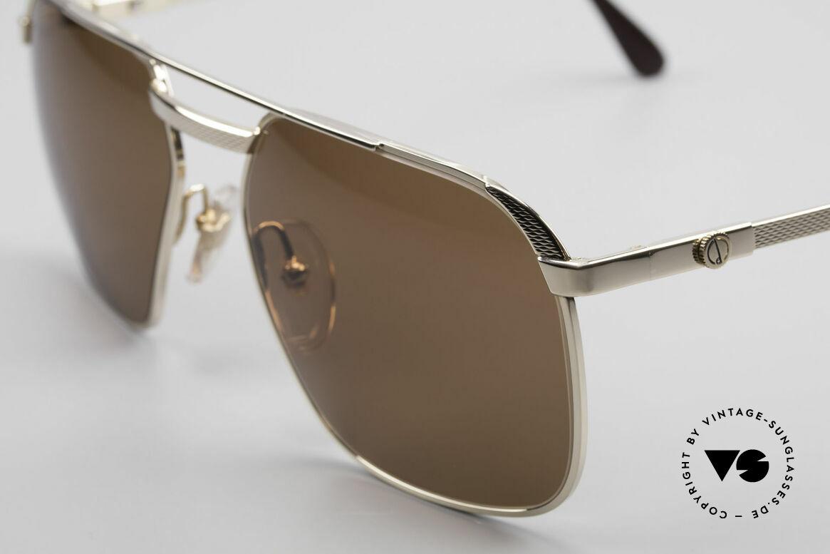Dunhill 6011 Vergoldete Herrenbrille 80er, Barley-Verfahren: winzige Facetten für sanften Glanz, Passend für Herren
