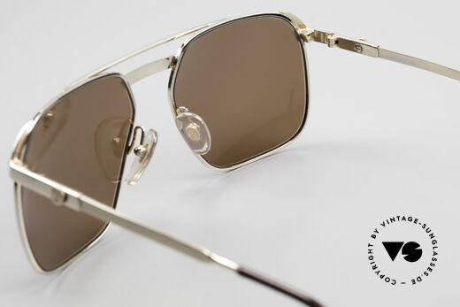Dunhill 6011 Vergoldete Herrenbrille 80er, KEIN RETRO, sondern ein kostbares altes ORIGINAL!, Passend für Herren