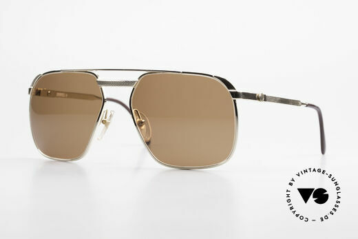 Dunhill 6011 Vergoldete Herrenbrille 80er Details