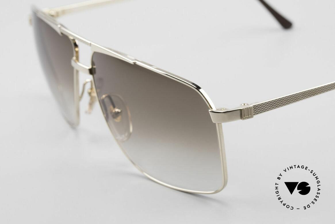 Dunhill 6126 Vergoldete 90er Herrenbrille, Barley-Verfahren: winzige Facetten für sanften Glanz, Passend für Herren
