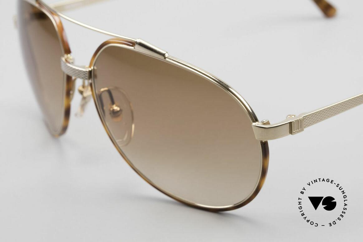 Dunhill 6174 Comfort Fit Luxus Brille 90er, sehr eleganter Klassiker mit Schildpatt-Ringen, Passend für Herren