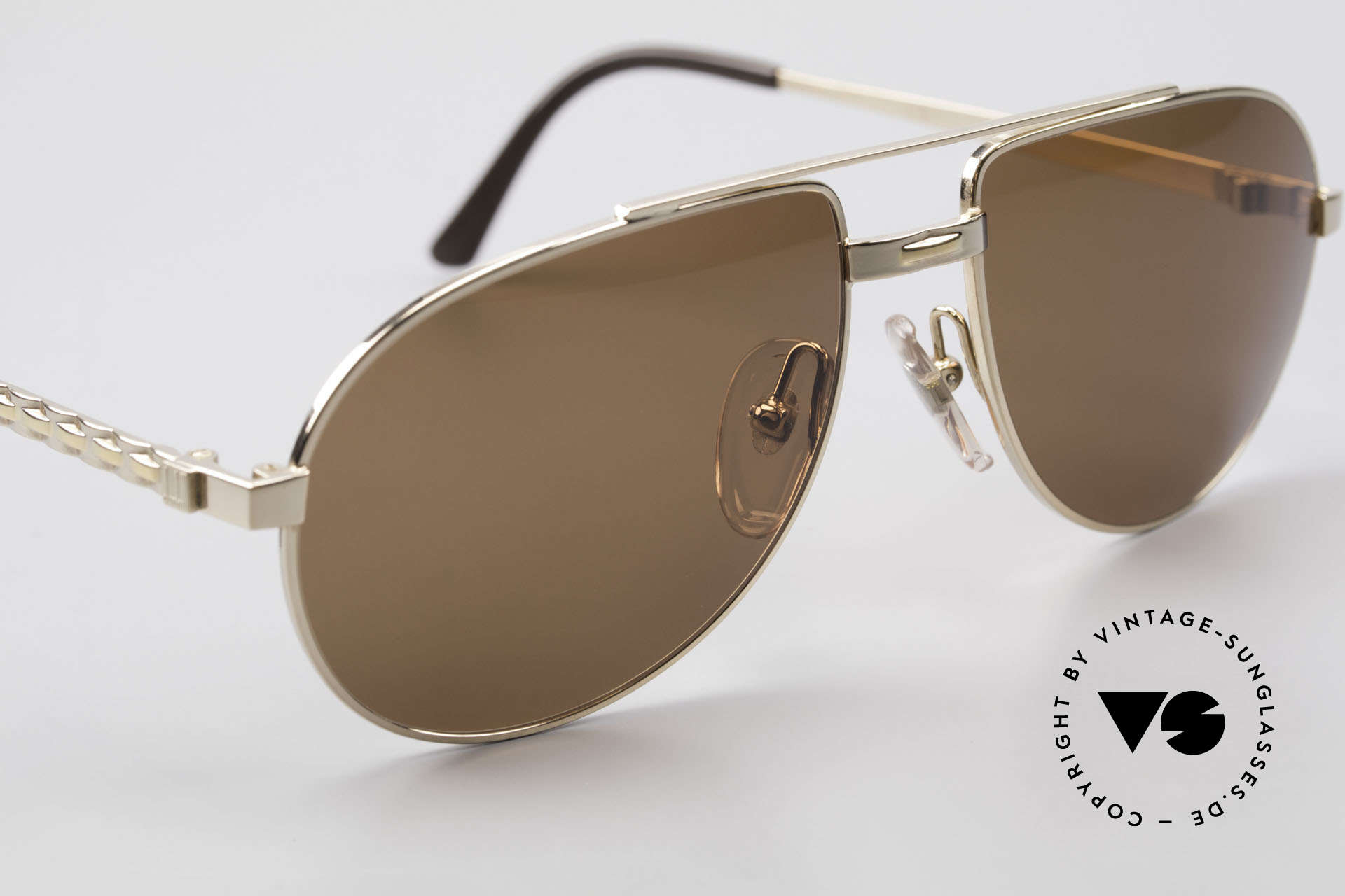 Dunhill 6147 90er Luxus Aviator Herrenbrille, ungetragen (wie alle unsere vintage Luxus-Sonnenbrillen), Passend für Herren
