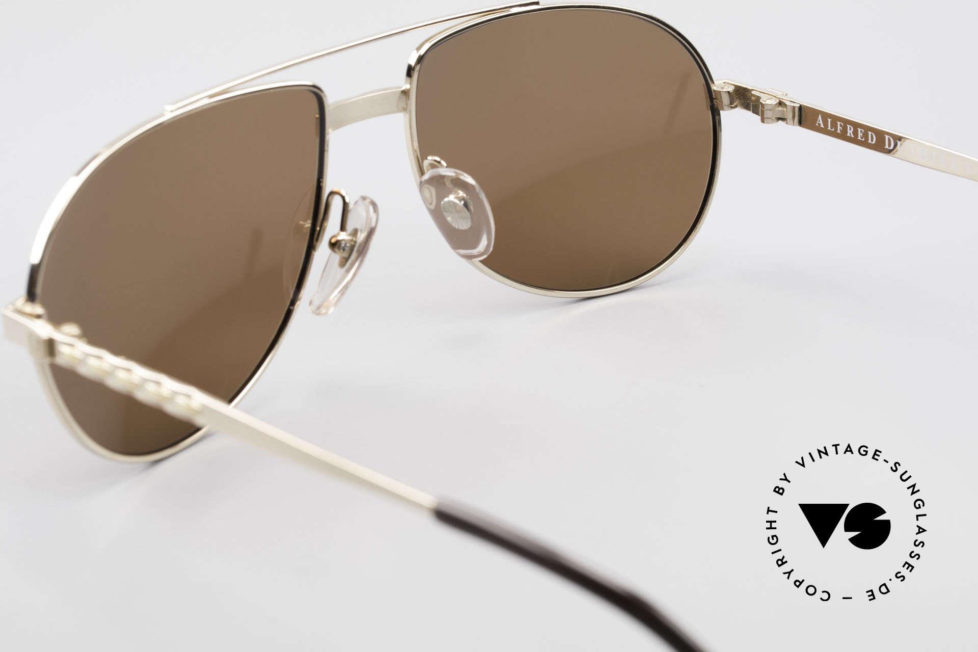 Dunhill 6147 90er Luxus Aviator Herrenbrille, KEINE retro Pilotensonnenbrille, sondern echt 90er Jahre, Passend für Herren