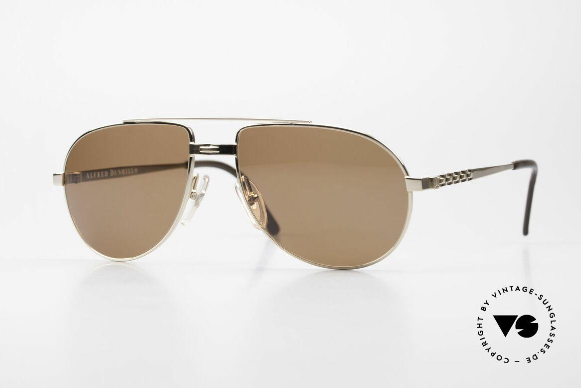 Dunhill 6147 90er Luxus Aviator Herrenbrille, die alte Dunhill Herrenkollektion = ein Inbegriff von Stil, Passend für Herren