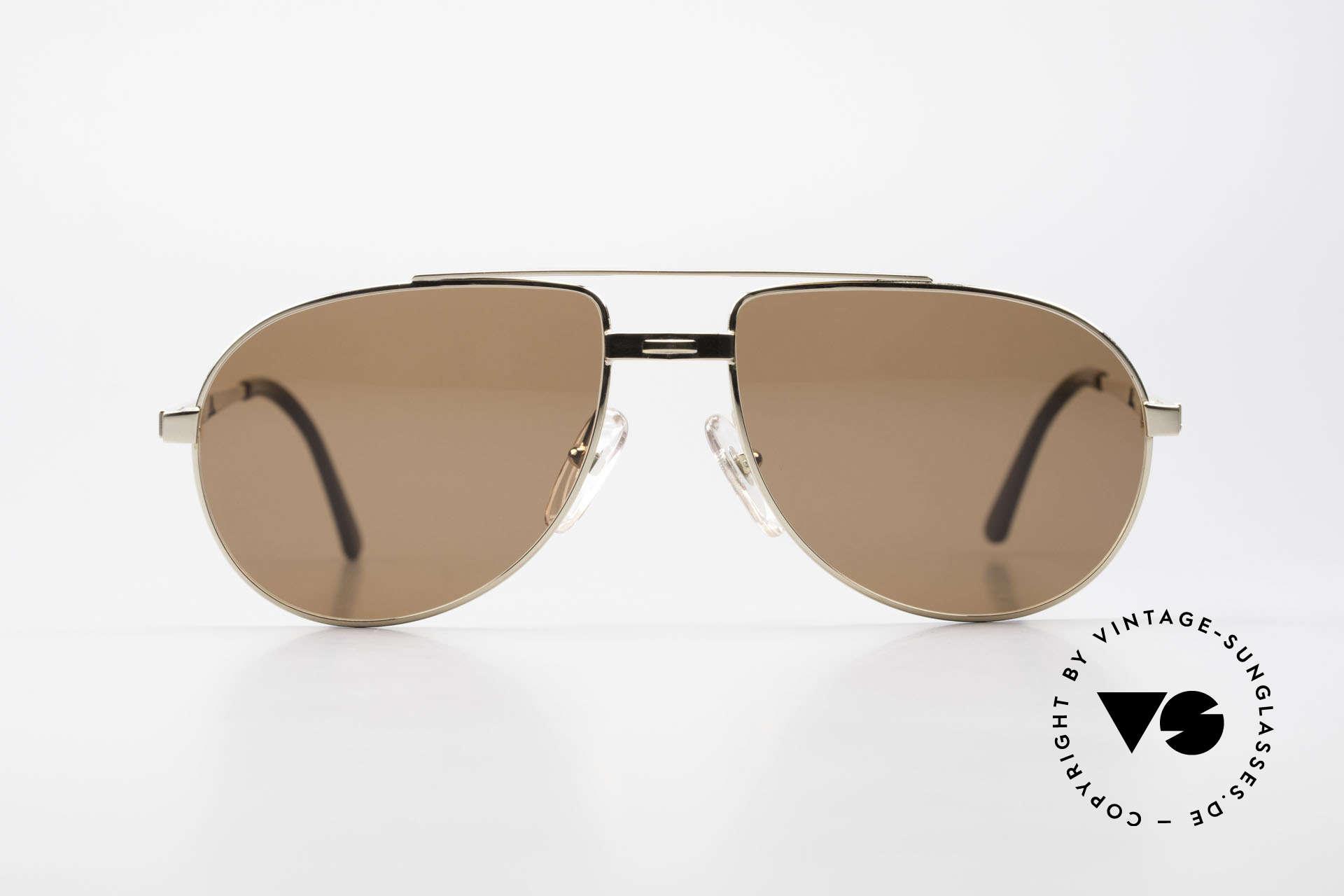 Dunhill 6147 90er Luxus Aviator Herrenbrille, sehr elegante 90er Dunhill Aviator-Herren-Sonnenbrille, Passend für Herren