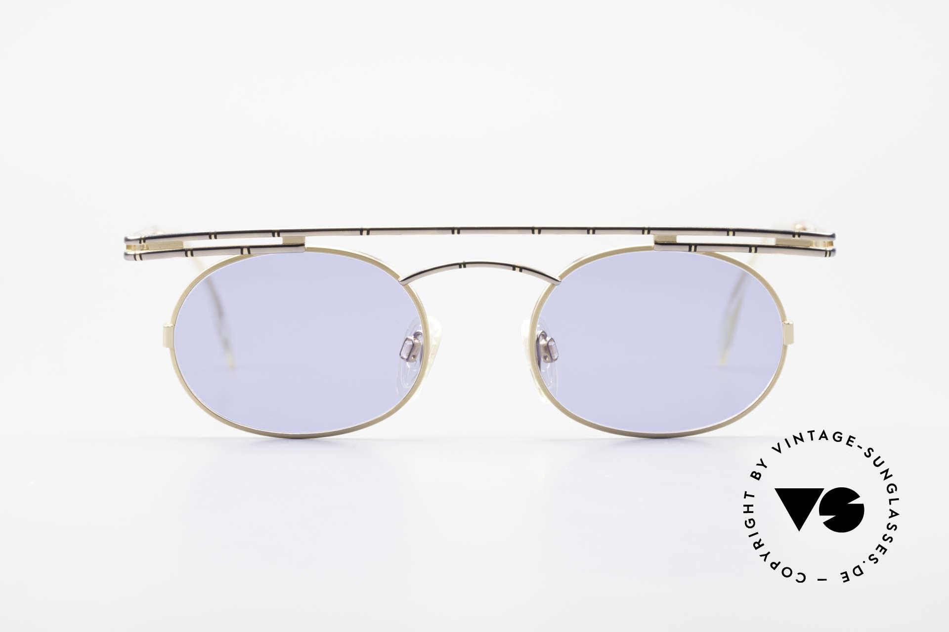 Cazal 761 Alte 90er Original Sonnenbrille, rund und kantig zugleich; ein echter Hingucker, Passend für Herren und Damen
