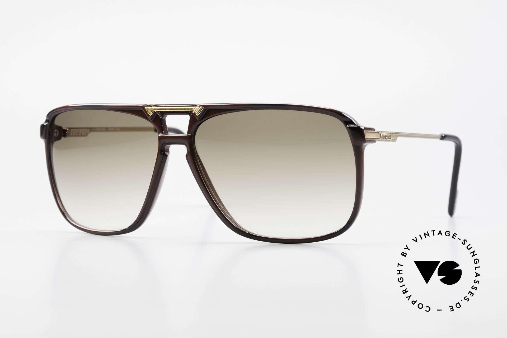 Ferrari F36/S Karbon Herren Sonnenbrille, vintage Ferrari Herren-Sonnenbrille aus den 90ern, Passend für Herren