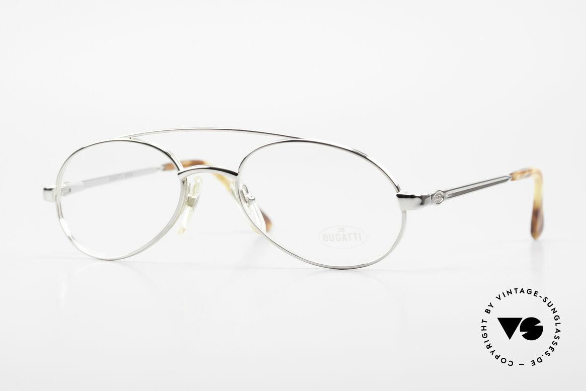 Bugatti 08104 80er Herren Vintage Brille, noble vintage 80er Bugatti Brillenfassung mit Etui, Passend für Herren