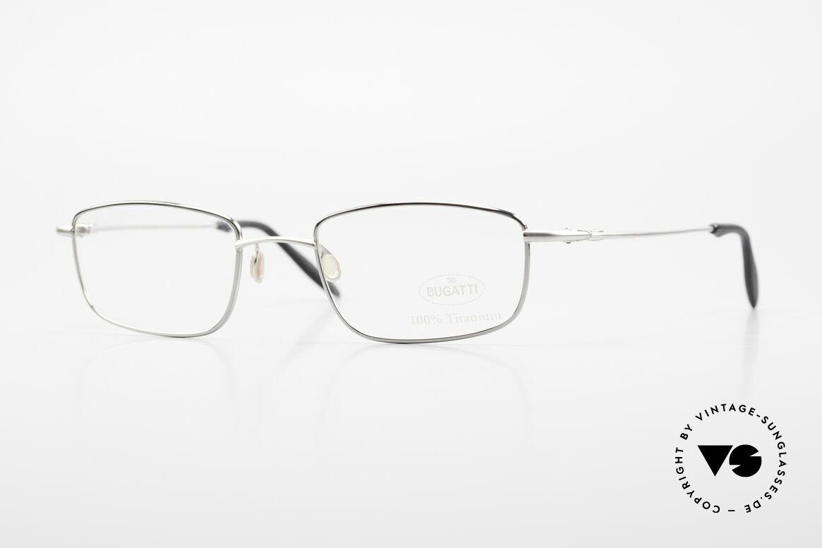 Bugatti 19061 Titanium Herrenbrille 90er, 100% Titanium vintage Bugatti Brille von circa 1998, Passend für Herren