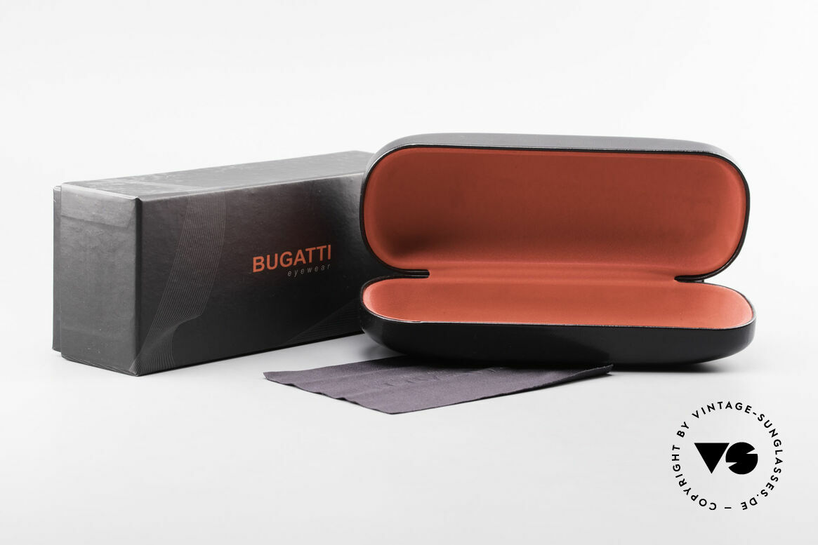 Bugatti 19061 Titanium Herrenbrille 90er, Größe: large, Passend für Herren
