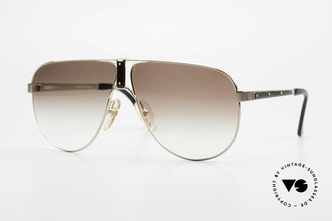 Dunhill 6043 Vergoldet mit Horn Zierleisten, außergewöhnlich schöne Dunhill Herren-Sonnenbrille, Passend für Herren