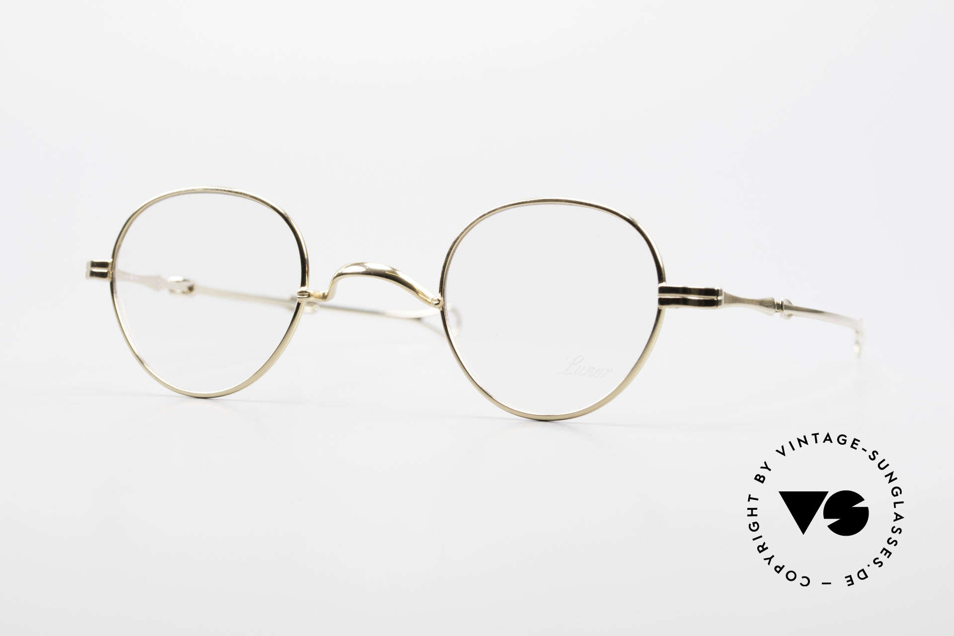 """Lunor I 15 Telescopic Vergoldet Mit Schiebebügeln, LUNOR = französisch für """"Lunette d'Or"""" (Goldbrille), Passend für Herren und Damen"""