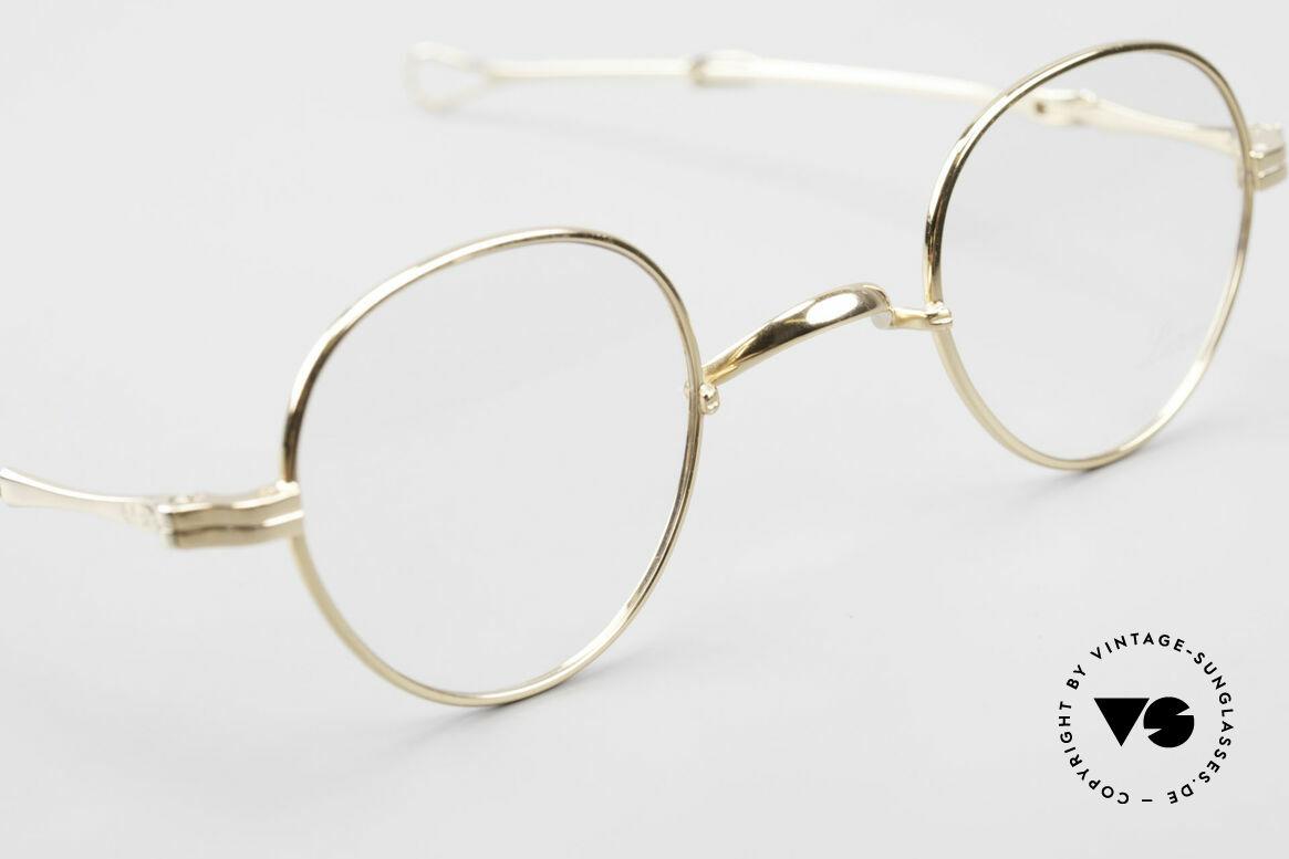 Lunor I 15 Telescopic Vergoldet Mit Schiebebügeln, sowie für ausziehbare Brillenbügel (= teleskopartig), Passend für Herren und Damen