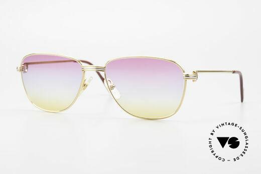 Cartier Courcelles 90er Luxus Sonnenbrille Unikat Details
