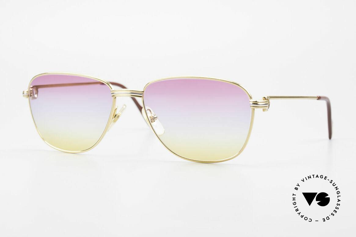 Cartier Courcelles 90er Luxus Sonnenbrille Unikat, edle CARTIER Brille aus den 90ern, Größe 57°17, 135, Passend für Herren und Damen