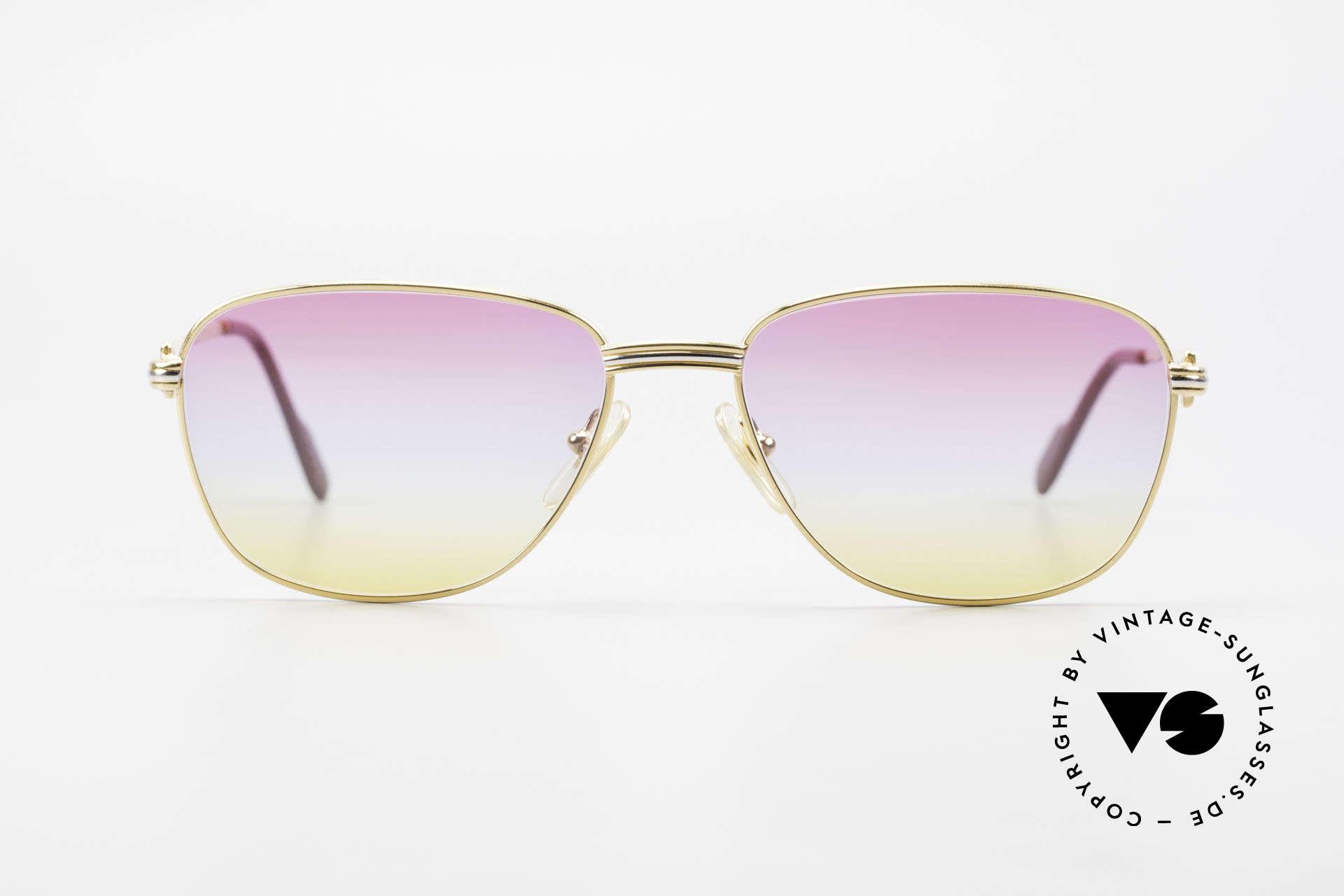 Cartier Courcelles 90er Luxus Sonnenbrille Unikat, ein vintage ORIGINAL mit neuen, originellen Gläsern, Passend für Herren und Damen