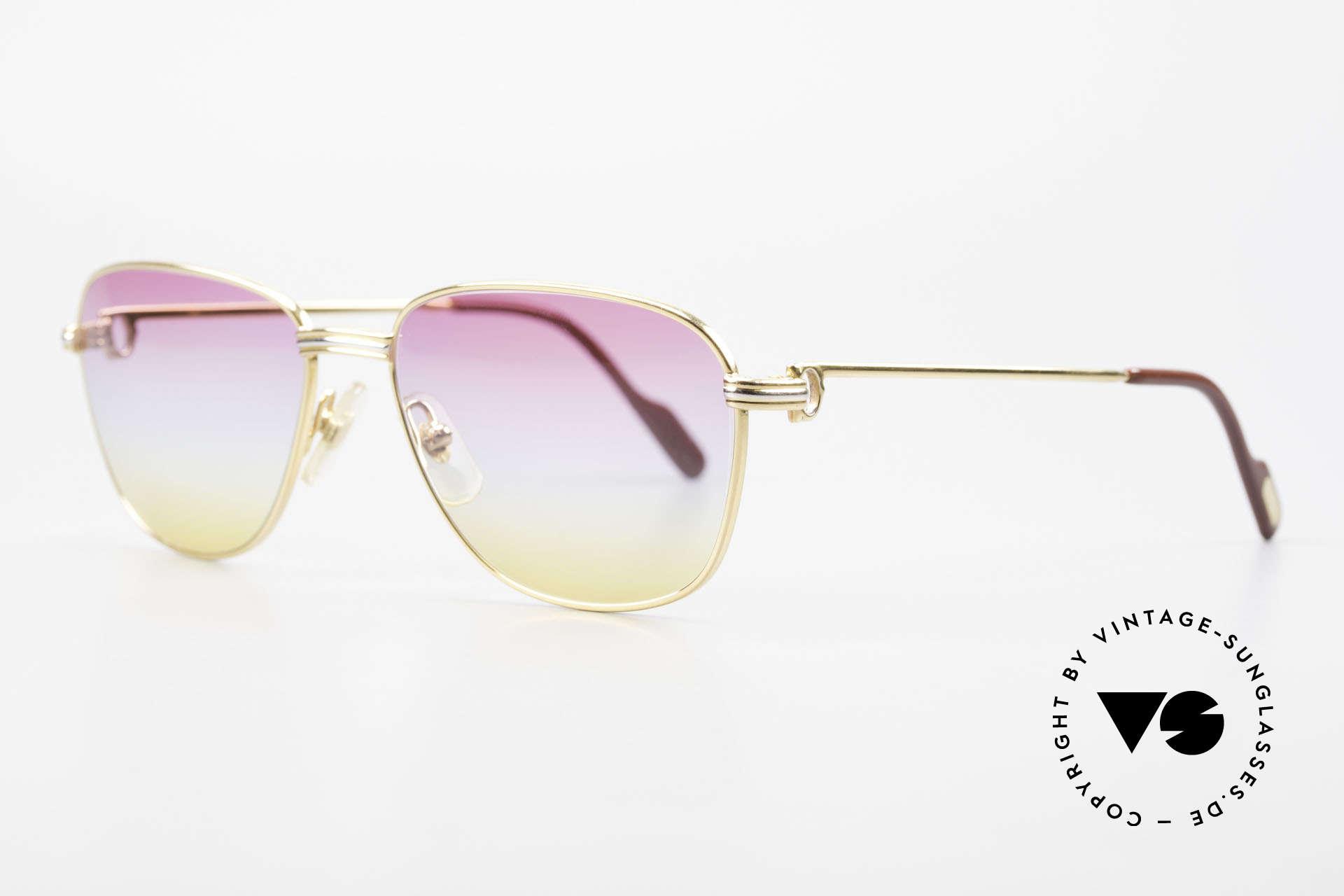 Cartier Courcelles 90er Luxus Sonnenbrille Unikat, TOP-Qualität; made in France (hoher Tragekomfort), Passend für Herren und Damen