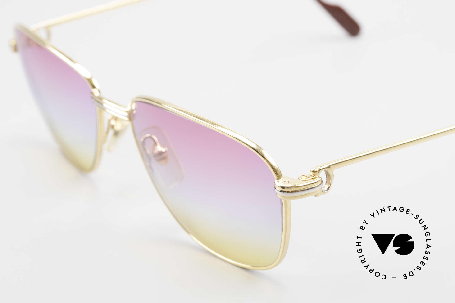 Cartier Courcelles 90er Luxus Sonnenbrille Unikat, 22kt vergoldet (wie alle vintage Cartier ORIGINALE), Passend für Herren und Damen