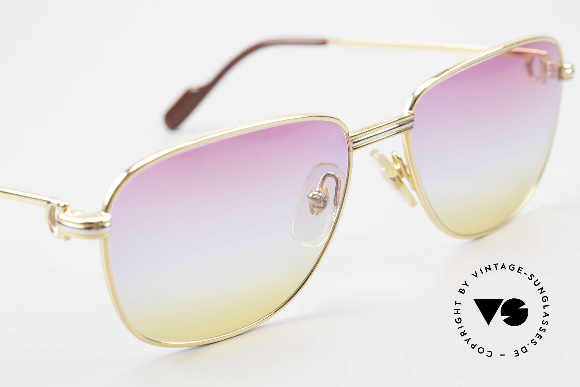 Cartier Courcelles 90er Luxus Sonnenbrille Unikat, 2.hand Modell im neuwertigen Zustand + Chanel Etui, Passend für Herren und Damen