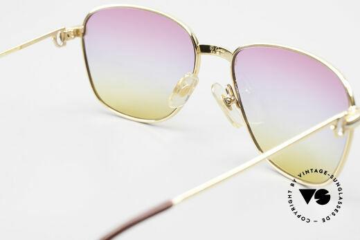 Cartier Courcelles 90er Luxus Sonnenbrille Unikat, Dreifach-Farbverlauf der Gläser wie ein Sonnenaufgang, Passend für Herren und Damen