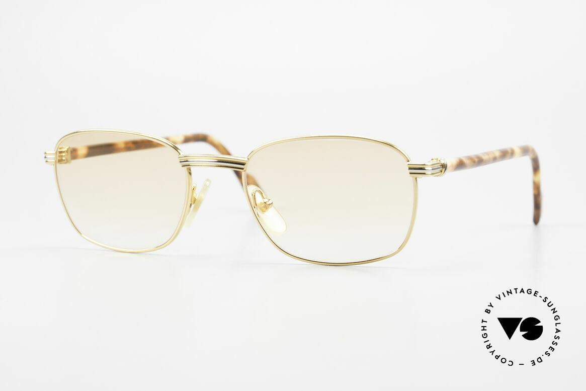 Cartier Aube Luxus Brille In Orange Verlauf, edle Cartier Designerbrille aus den 90ern, Gr. 52°19, Passend für Herren