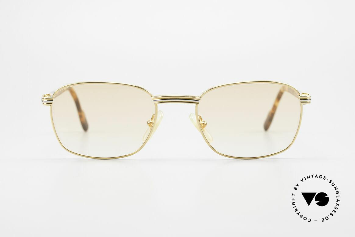 Cartier Aube Luxus Brille In Orange Verlauf, der Name sagt's schon: 'Aube' = Morgendämmerung, Passend für Herren