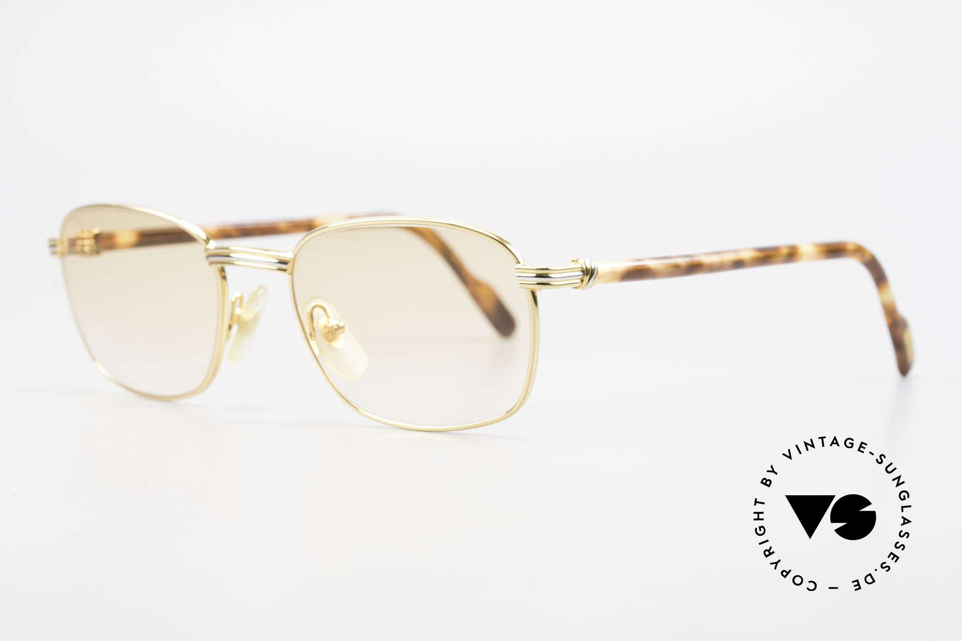 Cartier Aube Luxus Brille In Orange Verlauf, altes Original in Top-Qualität und zeitlosem Design, Passend für Herren