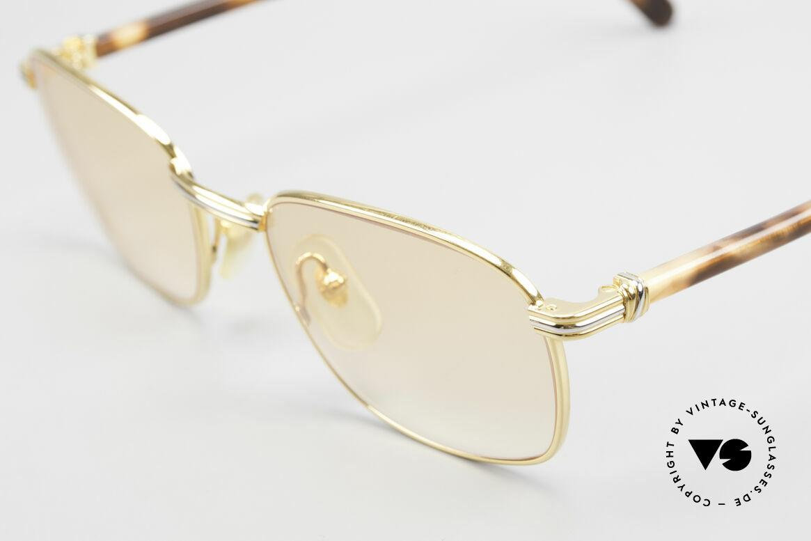 Cartier Aube Luxus Brille In Orange Verlauf, Gläser in orange-Verlauf; daher auch abends tragbar, Passend für Herren