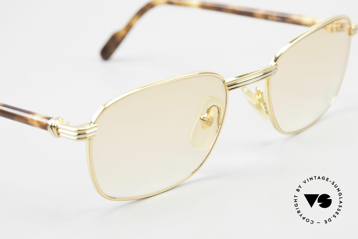 Cartier Aube Luxus Brille In Orange Verlauf, 2. hand Modell im neuwertigen Zustand + Chanel Etui, Passend für Herren