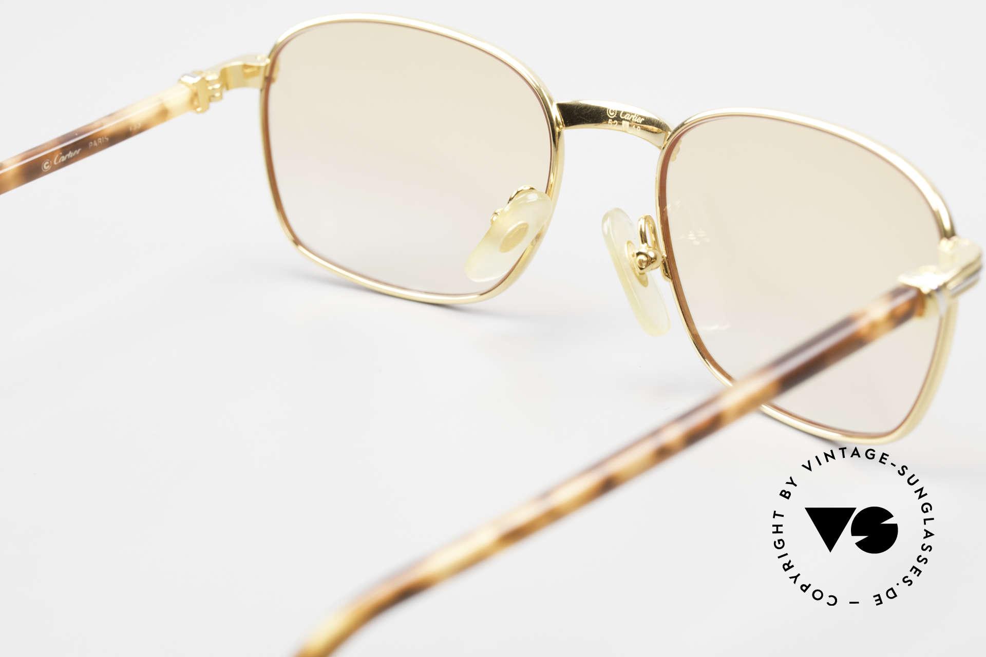 Cartier Aube Luxus Brille In Orange Verlauf, KEINE Retrobrille; ein 20 Jahre altes Unikat in SMALL, Passend für Herren