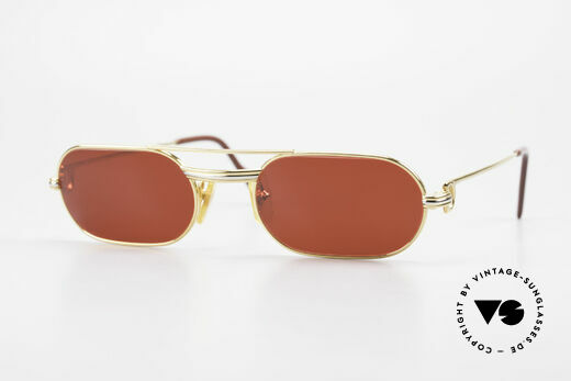 Cartier MUST LC - S 3D Rot Luxus Sonnenbrille Details