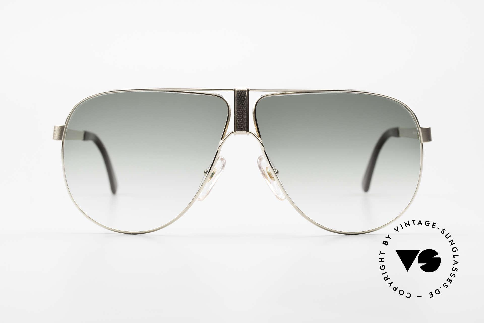 Dunhill 6043 Vergoldete Sonnenbrille 90er, ENORM hochwertiger Rahmen mit Barley-Veredelung, Passend für Herren