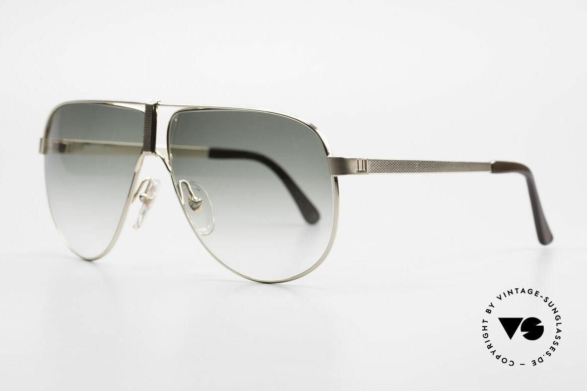 Dunhill 6043 Vergoldete Sonnenbrille 90er, Barley-Verfahren: winzige Facetten für sanften Glanz, Passend für Herren