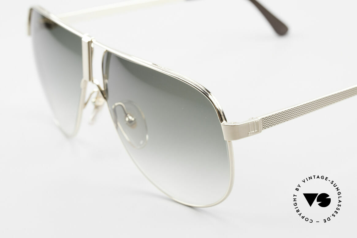 Dunhill 6043 Vergoldete Sonnenbrille 90er, seltenes 90er Designer-Stück in LARGE Größe 62/10, Passend für Herren